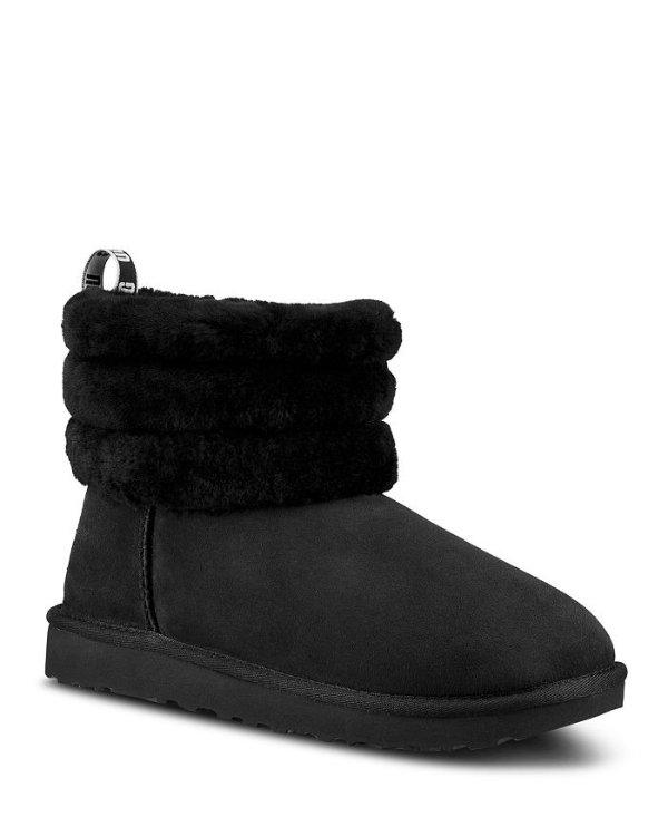 绒毛雪地靴