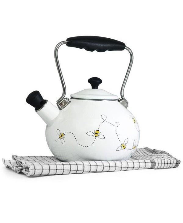 飞舞蜜蜂图案茶壶
