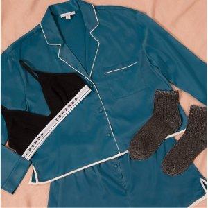 低至4折+一律额外8折 正价同享ASOS官网 睡衣大促 舒适与美貌并存 宅家必备 缎面睡衣$40