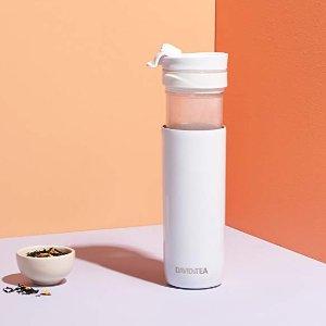 $28(原价$35) 3色选DAVIDsTEA 双层不锈钢保温杯 带滤茶器 473ml