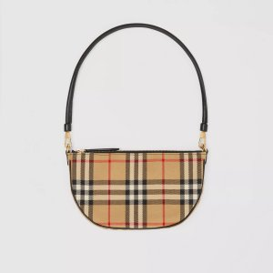 BurberryVintage Check Cotton Olympia Pouch