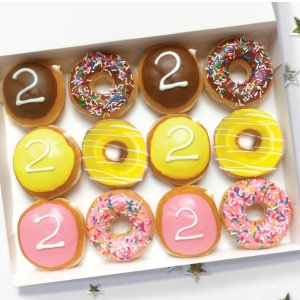 Free for Seniors on 5/19Krispy Kreme 2020 Grad Dozen Doughnuts