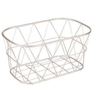 Better Homes & Gardens Small Bathroom Satin Wire Storage Basket - Walmart.com