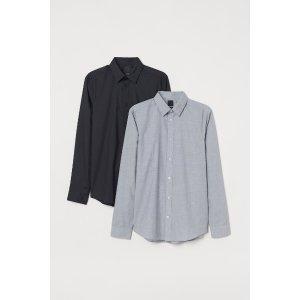 H&M男士衬衫两件套