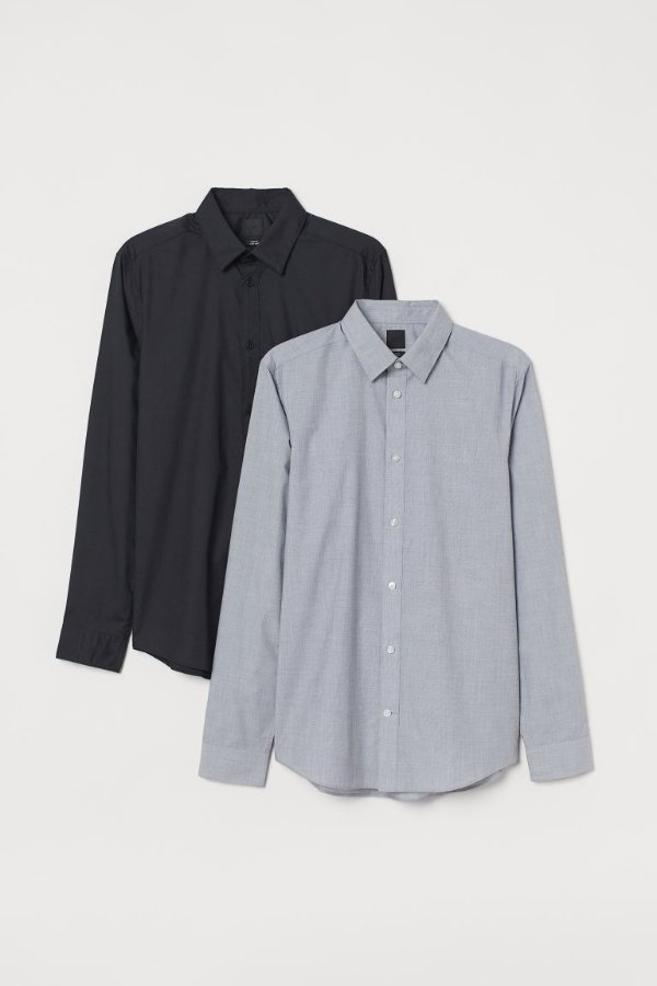 男士衬衫两件套