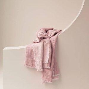 无门槛5折 低至$40Sheridan 编织毛毯、抱枕好价热卖 实用性、装饰性MAX