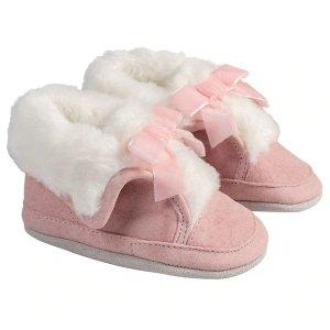Robeez 粉色婴儿软底靴