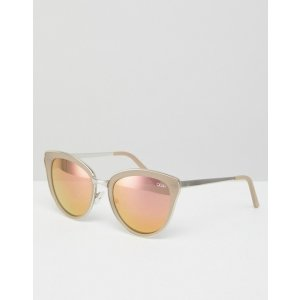 98e659e080505 Quay AustraliaEvery Little Thing Cat Eye Sunglasses With Pink Tinted Lens at  asos.com