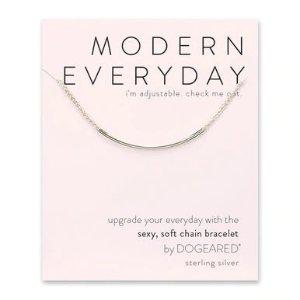Dogearedmodern everyday tube bracelet, sterling silver