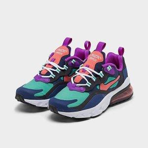NikeGirls' Big Kids' Nike Air Max 270 React SE Casual Shoes
