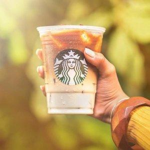 下单即送饮料Starbucks 咖啡周末限时优惠