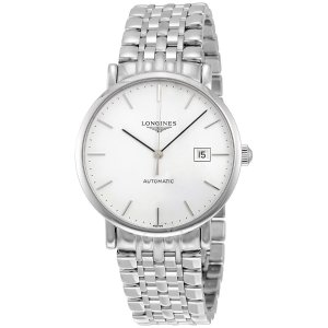 LonginesElegant Automatic White Dial Stainless Steel Men's Watch Elegant Automatic White Dial Stainless Steel Men's Watch