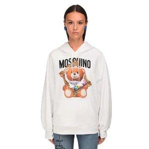 Moschino100%纯棉!仅剩36码!小熊连帽卫衣