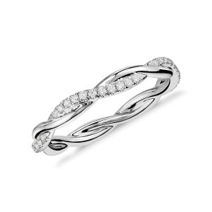 Blue NilePetite Twist Diamond Eternity Ring in Platinum (1/5 ct. tw.) | Blue Nile
