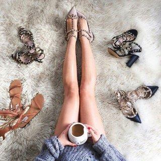 额外8折 铆钉鞋$505起大牌美鞋特卖专场,收仙女鞋 Rene Caovilla