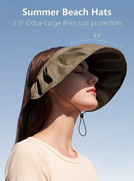 发箍+遮阳帽 2合一防晒帽
