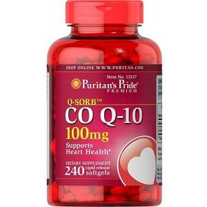 Puritans Pride Qsorb Co Q10 100 Mg Rapid Release Softgels 240 Count @ Amazon.com