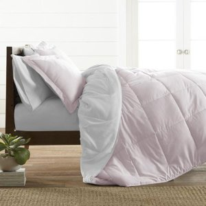 Noble Linens Premium Down Alternative Reversible 3-Piece Comforter Set