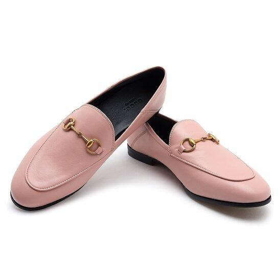 Ladies Horsebit 粉色福乐鞋