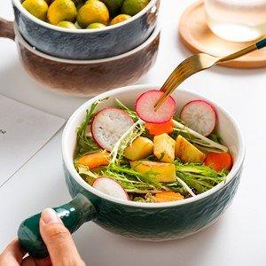 $10.99AQUIVER 21oz 陶瓷汤碗烘焙碗 3个 多色可选