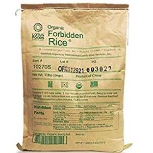 Lotus Foods Gourmet Organic Forbidden Rice, 11 Pound (Pack of 1)