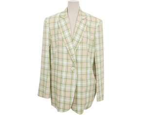 Stylenanda Single Button Check Pattern Jacket
