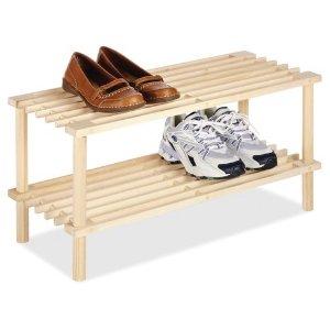 $5.3 白菜价Whitmor 2层木质鞋架