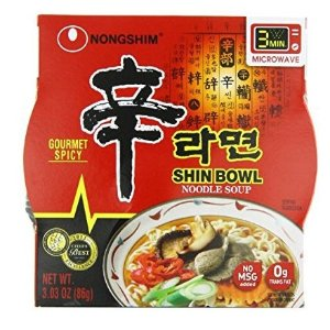 $9.38NongShim Shin Bowl Noodle Soup Gourmet Spicy Ounce Pack of 12