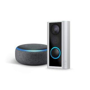 $79.99 安装简单,公寓能用史低价:Ring Peephole Cam 猫眼智能门铃 + Echo Dot 3