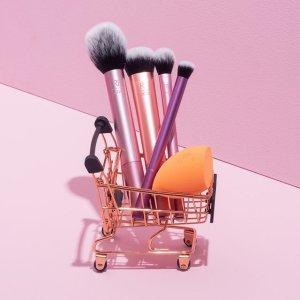 限时4.8折!仅€11收封面史低价:Real Techniques 彩妆工具5件套 化妆刷4支+美妆蛋1个