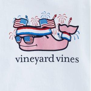 特价区5.5折起 超可爱小鲸鱼折扣升级:Vineyard Vines官网 儿童特价区T恤6折 全场购物还有好礼相送
