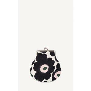 Mini Unikko coin purse - off white, dark gray, green - Bags - SALE - Marimekko.com