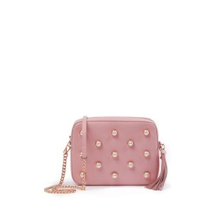 17aebf08c TED BAKER LONDONAlessia Leather Faux Pearl Embellished Camera Bag
