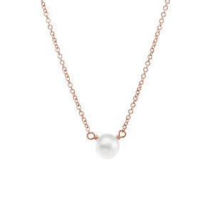 pearls of friendship, small pearl necklace, rose gold filled