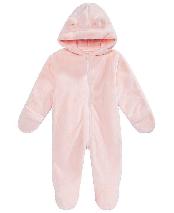 婴儿抓绒连体外套