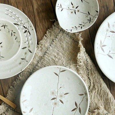 白雪樱餐具6件套 日本制造 美仓发货
