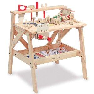 史低价:Melissa & Doug 儿童实木玩具台,也能做书画写字台
