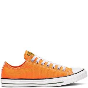 ConverseChuckTaylor全明星橙色帆布鞋
