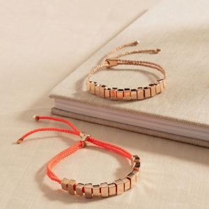 低至4折+低至额外7.5折Monica Vinader 夏季大促 友谊小红绳、串珠手链$58