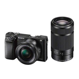 $799.99(原价$948)Sony a6000 微单 16-50mm+55-210mm 镜头套装