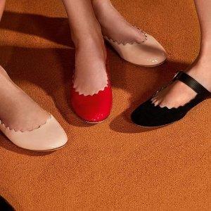 低至5折+额外8折 $206收花瓣鞋Chloe 特价区美鞋折上折热卖 花瓣鞋,踝靴都参加