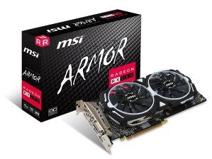 $229.99MSI RX580 ARMOR 4G OC 4GB GDDR5 游戏显卡