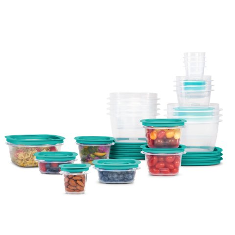 Rubbermaid Press & Lock Easy Find Lids, Food Storage Containers, 42-Piece Set