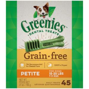 $30.99 + $20 Gift CardGREENIES Grain Free Petite Natural Dental Dog Treats