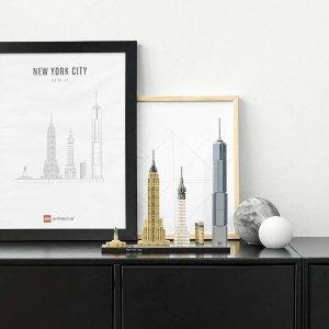 低至6折LEGO 建筑系列 绝美城市天际线,纽约、巴黎$49起