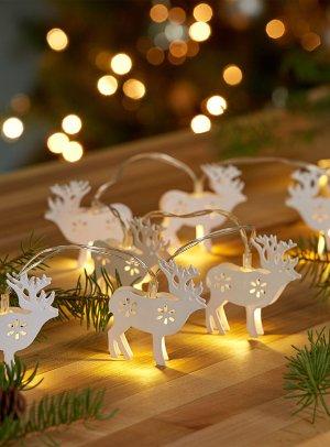 White deer string lights   Simons Maison