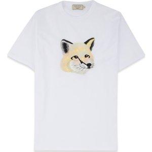 Maison Kitsune- Pastel Fox Head Embroidery T-Shirt - Off White