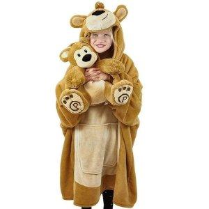 小熊披毯送小熊玩偶