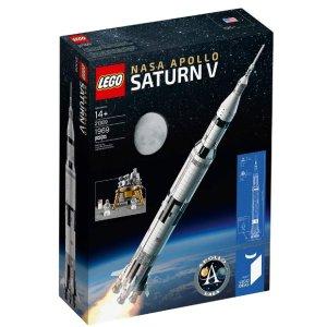 $89.99(原价$119.99) 今年史低补货:LEGO乐高 NASA 阿波罗土星五号 21309,实物高1米