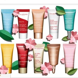 10-pc free giftAll orders sitewide @ Clarins